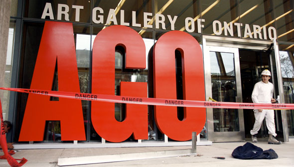 The New Art Gallery of Ontario (AGO) opens, but construction crews aren't quite done