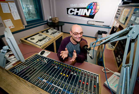 Edoardo Monasterolo at CHIN Radio