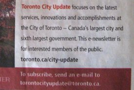 our toronto newsletter