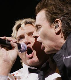 Duran Duran's Simon LeBon and John Taylor at the ACC in Toronto