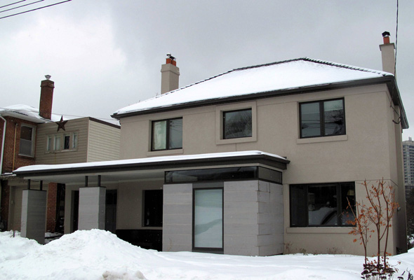 High Park home stucco insulation