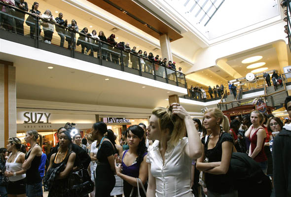 Canada's Next Top Model auditions in Toronto's Fairview Mall, generated long lineups of young women