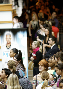 Canada's Next Top Model auditions in Toronto's Fairview Mall