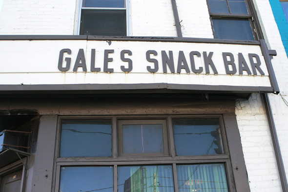 Gale's Snack Bar Exterior