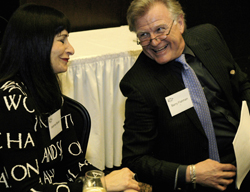 Jeanne Beker and Barry Flatman at Scrabble hosted Stars