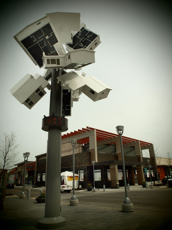 Supernova - Douglas Coupland's new clock tower at The Shops At Don Mills