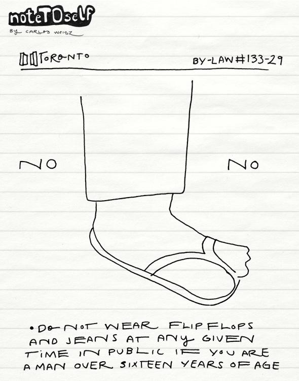 noteTOself flip fllops by-law