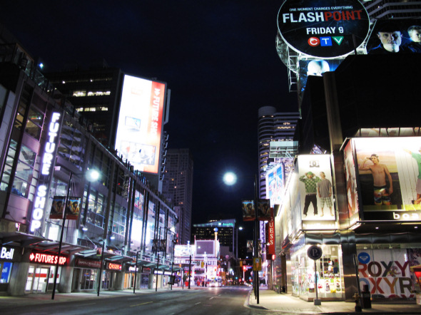 Empty Yonge Street