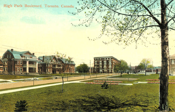 High Park Boulevard looking east toward Roncesvalles, 1914