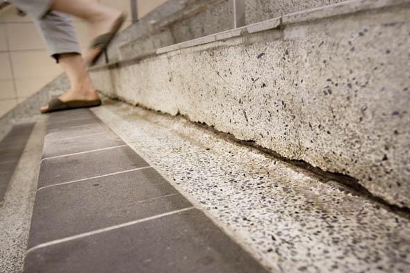Christie Station's Stress Cracks Steps