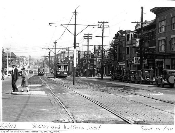 St. Clair and Dufferin in 1928