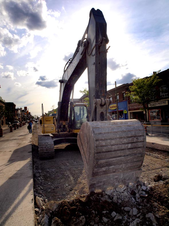 Digger at rest, St. Clair Avenue