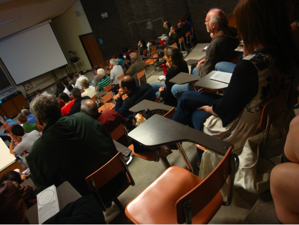 Crowd at U of T's Department of Astronomy and Astrophysics
