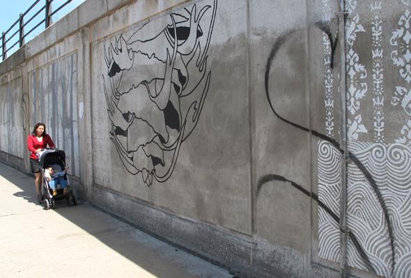 Graffiti on mural