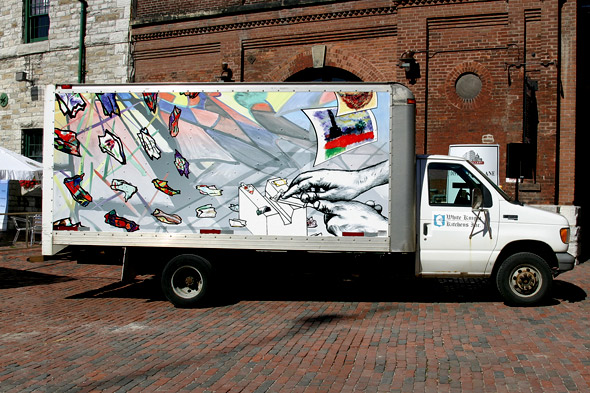 White Knight Kitchens, Inc. with CAMH truck mural