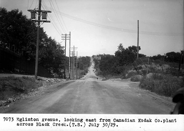 Eglinton looking east from Kodak, 1929