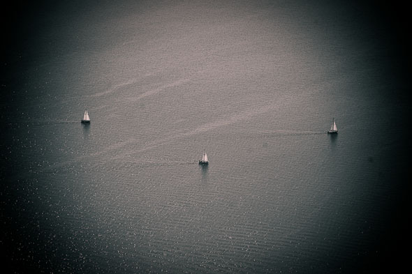 Lake Ontario Boats Aerial