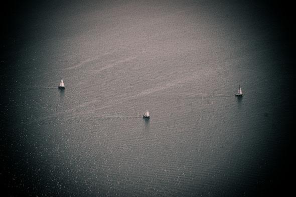 Lake Ontario Boats Aerial