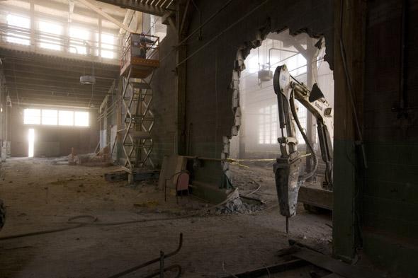 Toronto Roundhouse under construction