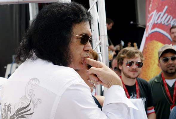 Gene Simmons at the Honda Indy