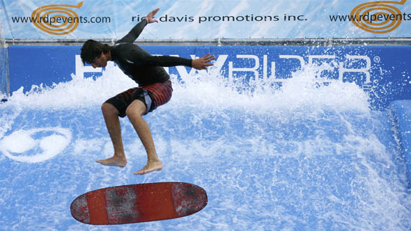 Flowrider demo at the ex