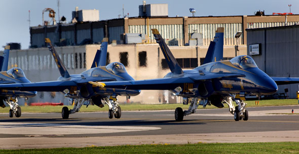 Blue Angels at Pearson Airport