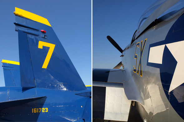 Details of F-18 and P-51
