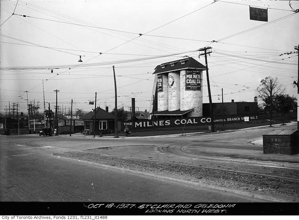 St. Clair and Caledonia in 1927