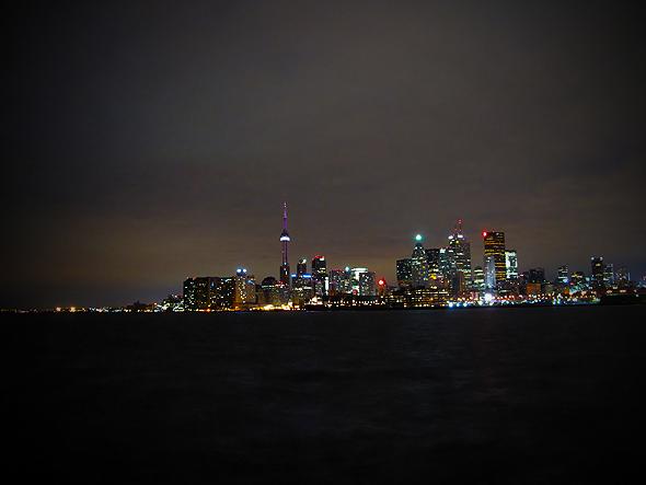 Port Lands Toronto Skyline View