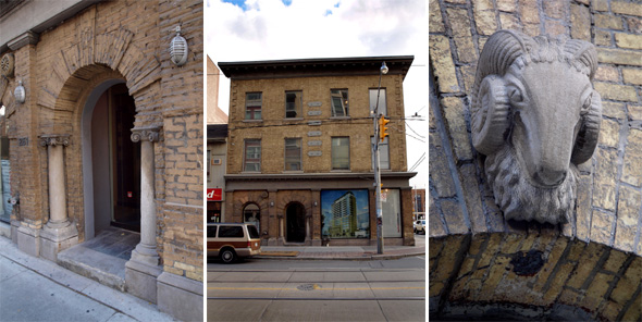 A triptych of details of 251 King West