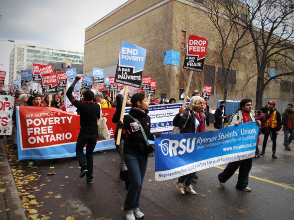 Drop Fees Rally Ryerson University