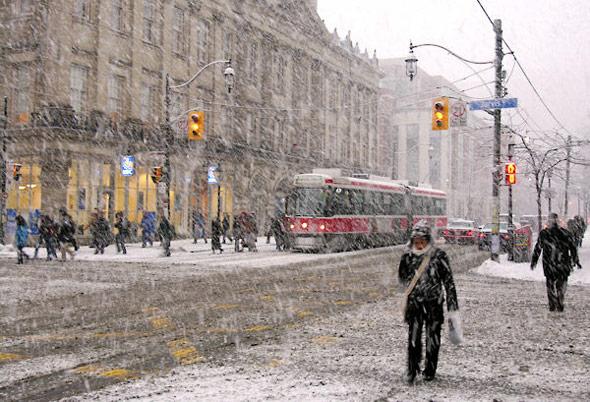 Snow Downtown Toronto