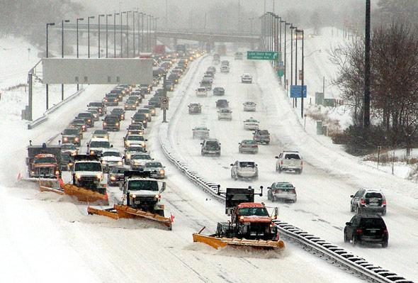 Snowstorm Highway Toronto
