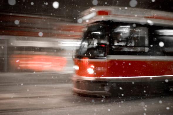 Toronto Streetcar snow