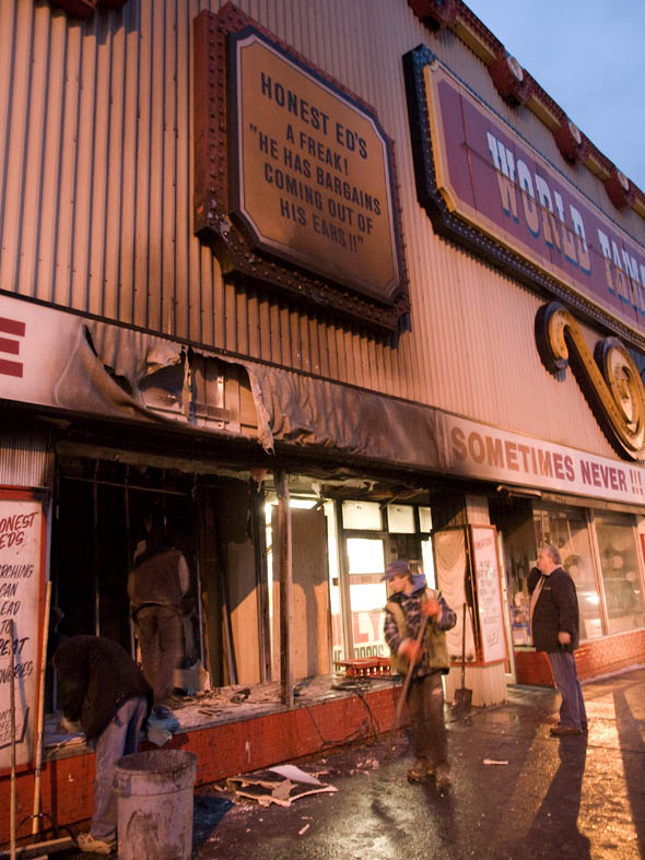 fire at honest eds