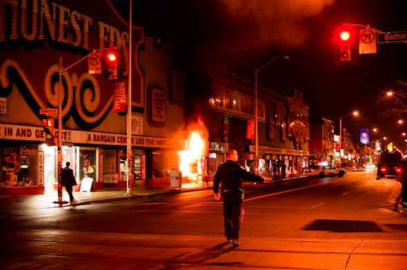 Honest Ed's Fire