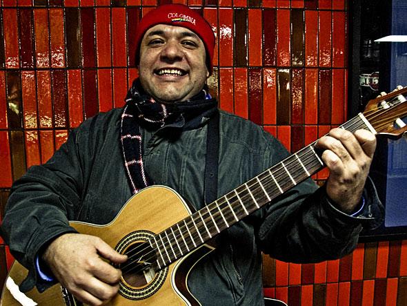 TTC Busker George Sanchez Closeup