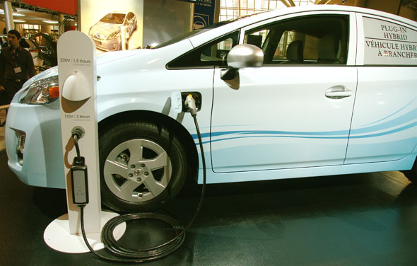 Toyota Prius plug-in vehicle at the 2010 Canadian International AutoShow