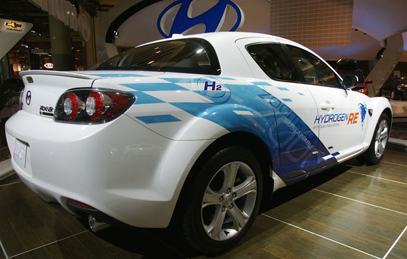 Mazda's RX-8 Hydrogen RE at the 2010 Canadian International AutoShow