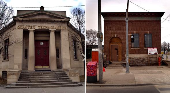 Former bank buildings on Cherry Street