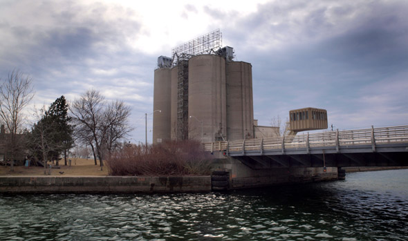 Across Keating Channel to the Essroc silos