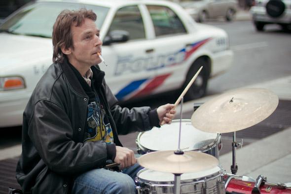 Toronto Street Busker Peter Richards Closeup