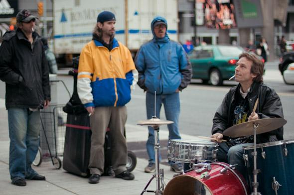 Toronto Street Busker Peter Richards and Friends