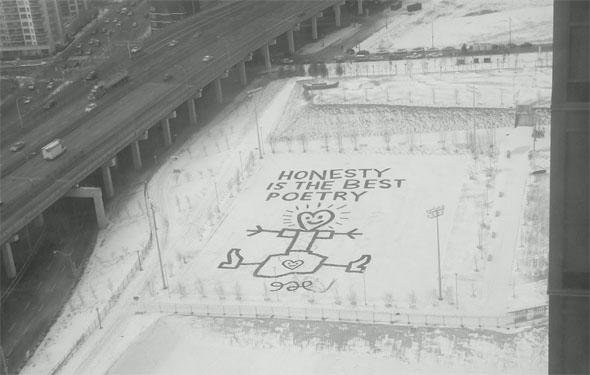 Cityplace snow penis