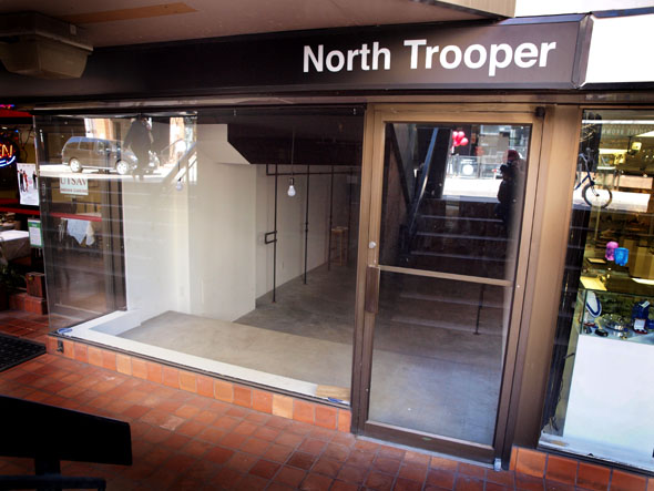 Empty storefront at North Trooper