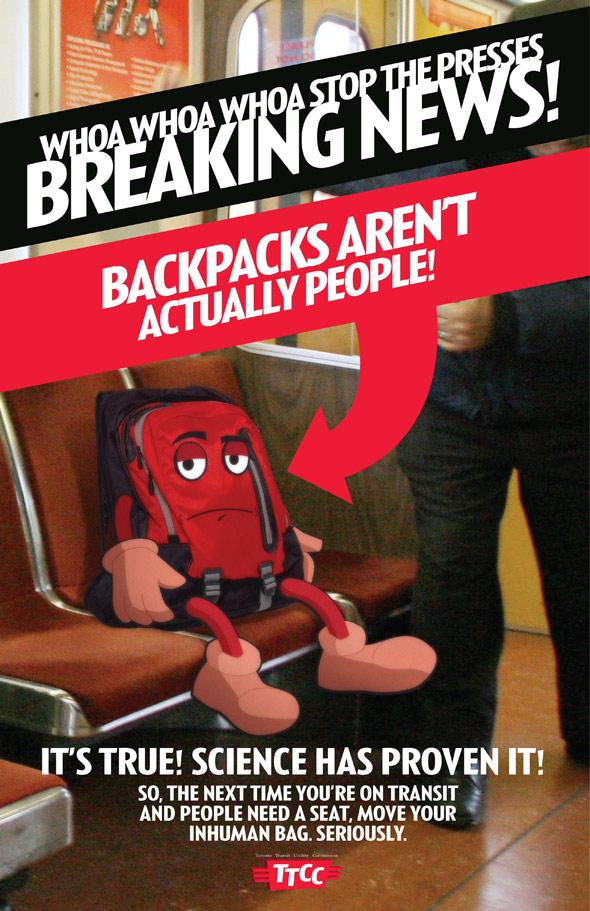 TTC subway etiquette poster