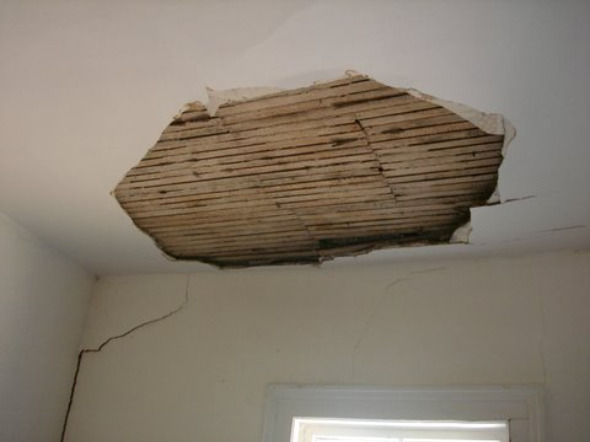 Damaged Roof in Sarah MacLennan's Home
