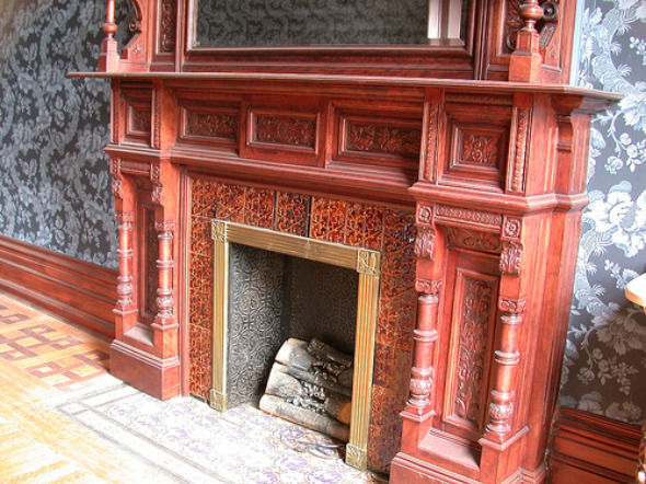 Fireplace in the Interior of James Cooper Mansion.jpg