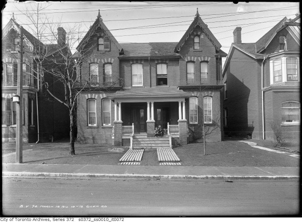Glen Road homes image from Toronto Archive