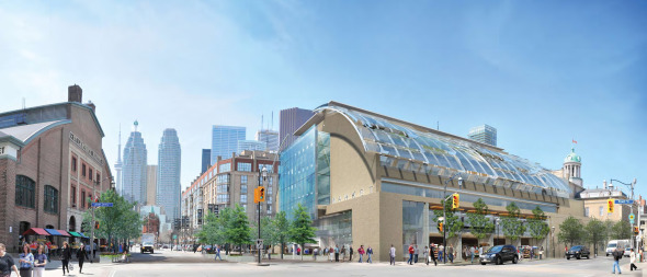 St Lawrence Market Redesign Green Concept Exterior